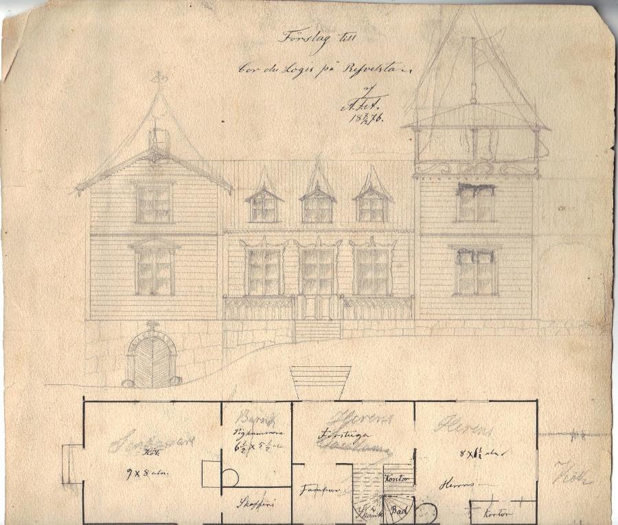 Förslag på byggnad ovanför Vasakällaren